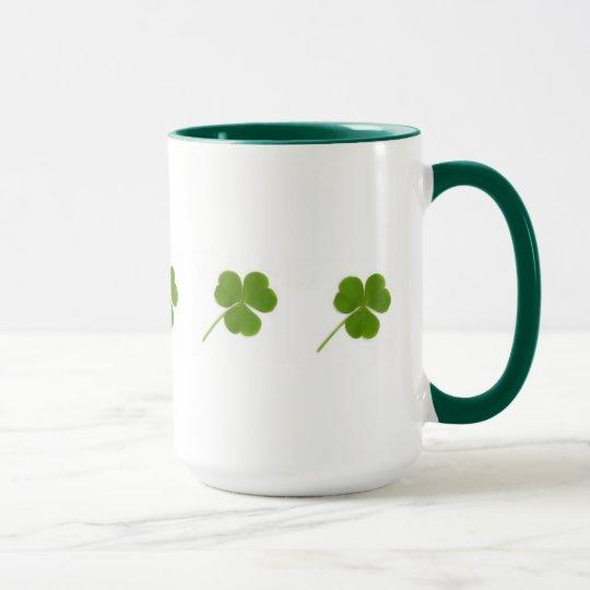 Green Shamrock Mug
