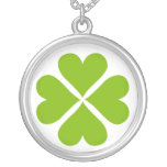 green shamrock Necklace