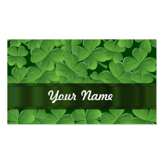 Green shamrock pattern Double-Sided standard business cards (Pack of 100)