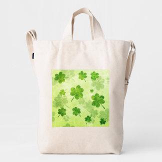 Green Shamrock Pattern Duck Bag