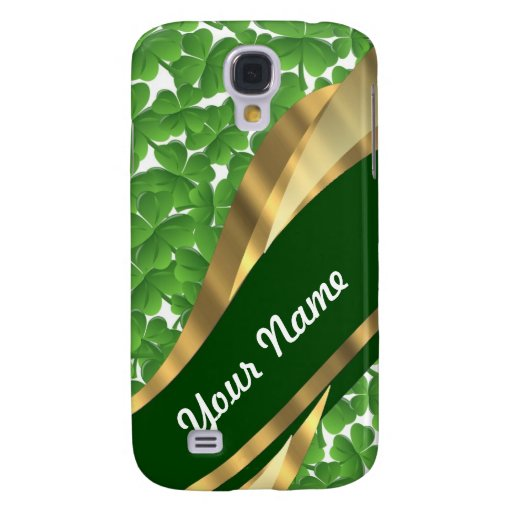 Green shamrock pattern HTC vivid / raider 4G case