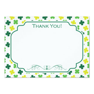 "Green Shamrock Pattern 4.5"" X 6.25"" Invitation Card"