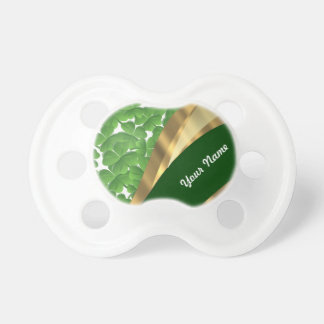 Green shamrock pattern pacifier