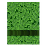 Green shamrock pattern postcard