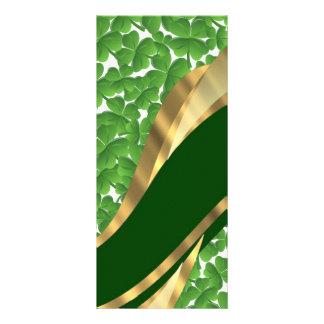 Green shamrock pattern rack card