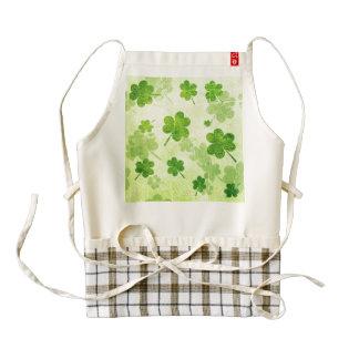 Green Shamrock Pattern Zazzle HEART Apron