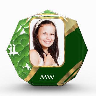 Green shamrock photo background award