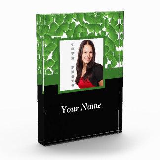 Green shamrock photo template award