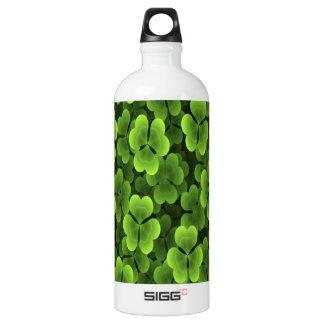 Green Shamrock Plant Pattern SIGG Traveler 1.0L Water Bottle