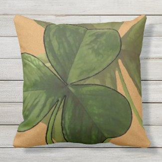 Green Shamrock Plants on Custom Color