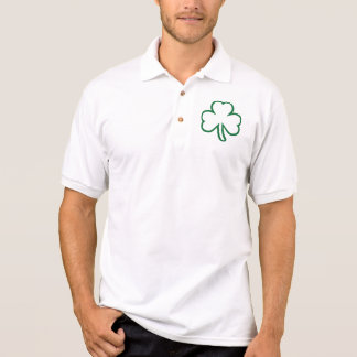 Green shamrock polo shirt