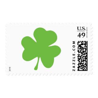 green shamrock postage stamp
