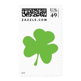 green shamrock postage stamps