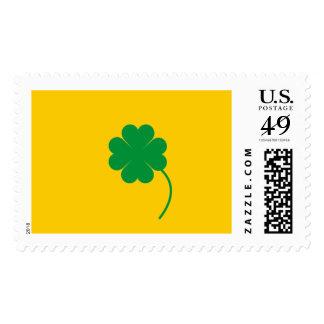 Green shamrock postage
