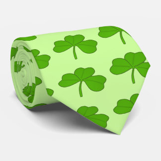 Green Shamrock Saint Patrick's Day Neck Tie