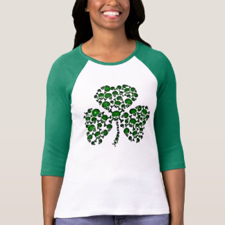 Green Shamrock Skulls T-Shirt