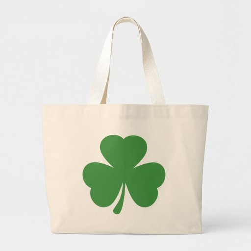green shamrock st. patrick´s day canvas bags