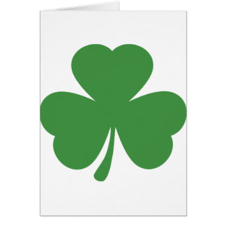 green shamrock st. patrick´s day greeting cards
