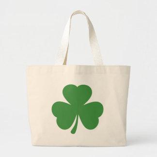 green shamrock st. patrick´s day large tote bag