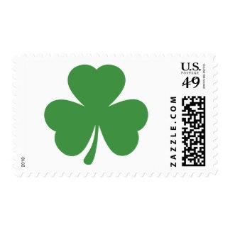 green shamrock st. patrick´s day postage