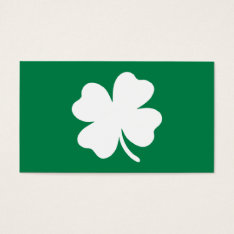 Green Shamrock  St Patricks Day Ireland Business Card at Zazzle