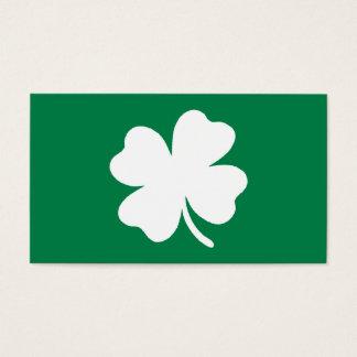 Green Shamrock  St Patricks Day Ireland Business Card