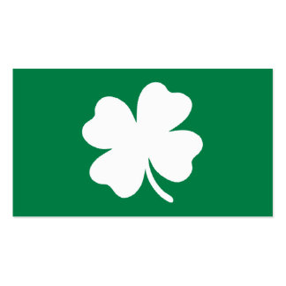 Green Shamrock  St Patricks Day Ireland Double-Sided Standard Business Cards (Pack Of 100)