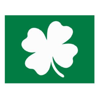Green Shamrock St Patricks Day Ireland Postcard