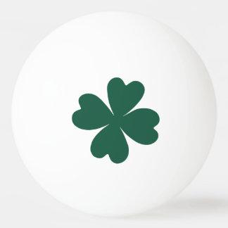 Green shamrock St Patricks Day Ping-Pong Ball