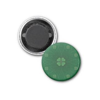 Green Shamrock St.Patrick's Day Round Magnet