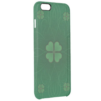 Green Shamrock St.Patrick's Day Style Clear iPhone 6 Plus Case