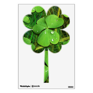 Green Shamrock St Patrick's Day Wall Decals