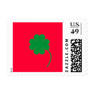 Green shamrock stamp