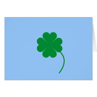 Green shamrock stationery note card