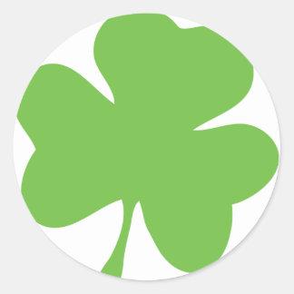 green shamrock classic round sticker