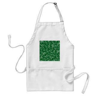 Green Shamrock Swirl Pattern PT 81 Adult Apron