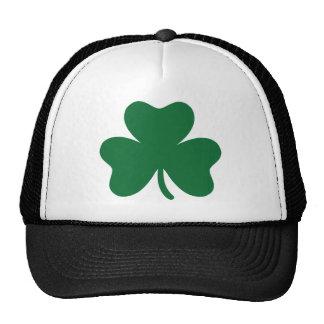Green shamrock trucker hat