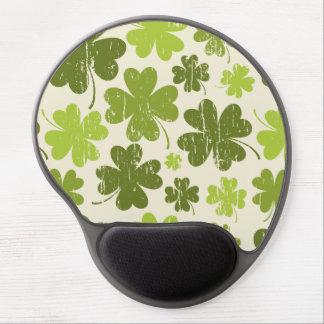 Green Shamrock Vintage Pattern Gel Mousepad