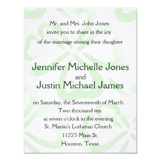 Green Shamrock Wedding Invitation