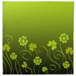 Green shamrocks and clovers cloth napkin