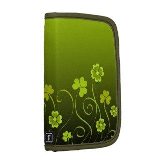 Green shamrocks and clovers rickshawfolio