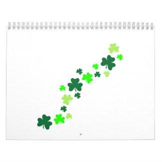 Green shamrocks calendars