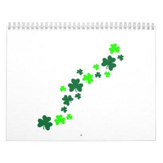 Green shamrocks calendar