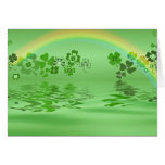 Green Shamrocks Card