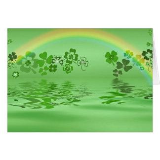 Green Shamrocks Card