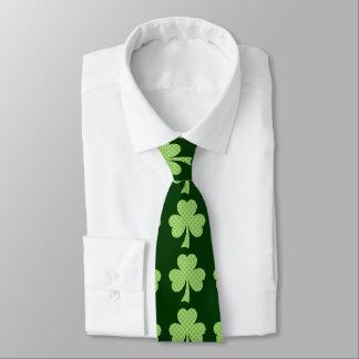 Green Shamrocks clovers polka dots pattern Neck Tie