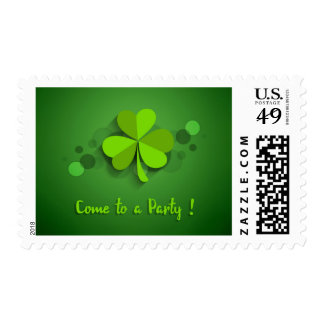 gREEN sHAMROCKS Come to a Party STAMP