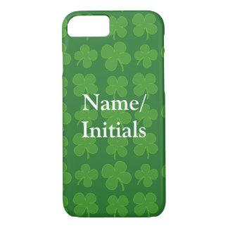 Green Shamrocks, Irish Clover Pattern iPhone 7 Case