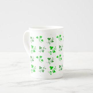 Green Shamrocks Pattern Mug
