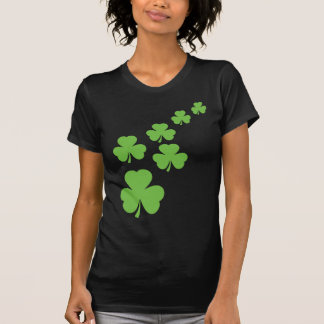 green shamrocks rain t-shirt